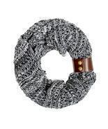 Black Jenna Knit Cowl Scarf - £18.73 GBP