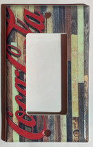 Barn Wood Coke Logo Coca Cola Light Switch Outlet wall Cover Plate Home Decor image 3