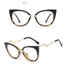 Ladies Optical Sexy Cat Eye Glasses Frames Women Brand Designer Eyeglasses Fashi image 7