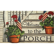 Porch Welcome Floor Mat rubber Country Kitchen Home  - $38.00