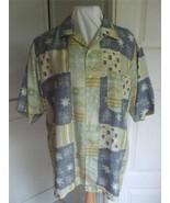 Countess Mara Men's L Shirt Lightweight 100% Silk Short Sleeve Pastel Co... - $19.75