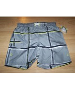 Size XS 4-5 OP Ocean Pacific Board Shorts Swim Trunks Gray Black White L... - $12.00