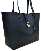NWT MICHAEL KORS KARSON LARGE CARRYALL LEATHER TOTE SHOULDER BAG BLACK $398 - $87.99