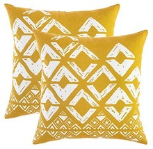 TreeWool, (2 Pack) Throw Pillow Covers Geometric Squares Accent Decorati... - $16.99