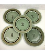 """Lot of 5 Franciscan Discovery Emerald Isle 10.25"""" Dinner Plates Green Brown VTG - $34.64"""