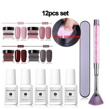12pcs Dipping Nail Powder Polish Set Dust Bond Base Top Activator - $30.96