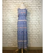 Lush Nordstrom Women's Blue Spaghetti Strap Floor Length Maxi Dress Size... - $19.79