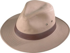 NEW Henschel Crushable Cotton Canvas Outback Fedora Hat #6950-95 - $54.95