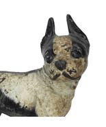 Vintage 1930s Hubley Boston Terrier Dog Cast Iron Doorstop Heavy Measure... - $112.20
