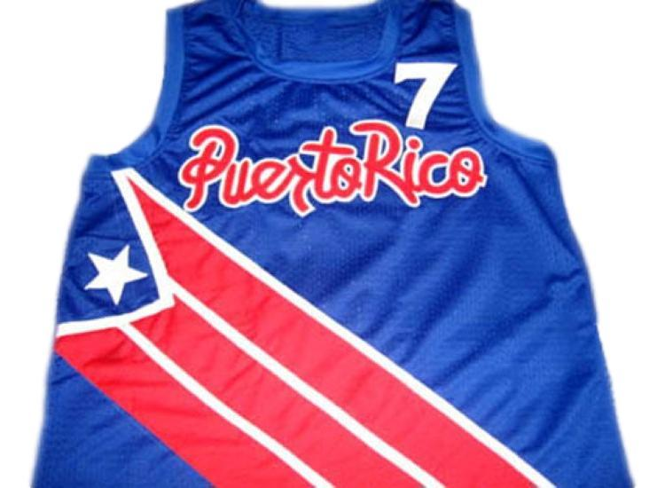 Carlos Arroyo #7 Puerto Rico Basketball Jersey Blue Any Size