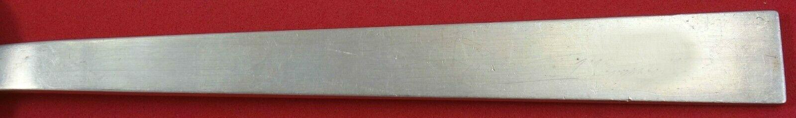 """Moderne by Adra Sterling Silver Regular Fork 7"""" Serving Piece Vintage image 2"""
