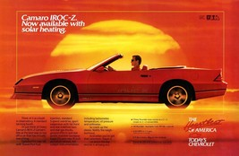 1988 Chevrolet Camaro IROC-Z convertible,  24 x 36 INCH POSTER,  sports car - $18.99