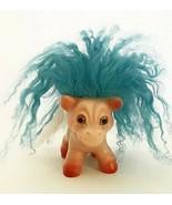 DAM Things Troll Horse Pony Animal 1964 All Original Turquoise White Man... - $123.75