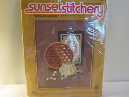 "American Heritage Crewel Kit Sunset Stitchery 16""X20"" 1977 Crafts of Ame... - $12.82"