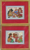"2X Counted Cross Stitch Mini Baby Storytime & Once Upon a Time KIT 7"" x 5"" - $18.99"