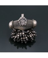 Vintage antique design 925 sterling silver pendant with bells jewelry ns... - $106.91
