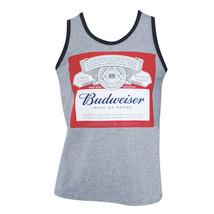 Budweiser Bottle Logo Grey Tank Top Gray - $25.98+