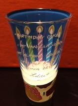 LOLITA 2 OZ. HAND-PAINTED SHOT GLASS ~ BIRTHDAY CAKE ~ RECIPE ON THE FRONT - $9.78