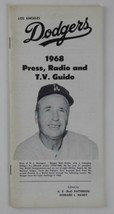 Los Angeles Dodgers 1968 Press Radio TV Guide Vintage Walt Alston Walter - $28.59