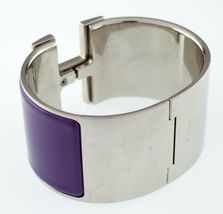 Hermès Clic Clac Violeta Extra Ancho Pulsera Nice! image 4