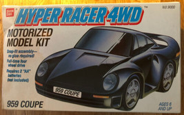 Bandai Porsche Hyper Racer 4WD Motorized Model Kit 1988 Original Content... - $33.87