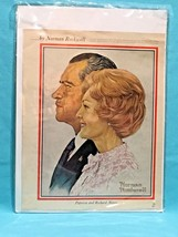 """Rare Vintage Norman Rockwell's Nixon & McGovern """"Candidates & their wives"""" - $31.47"""