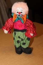Vintage CLOWN DOLL With Ceramic Head and Legs Standing Figurine - $10.53