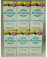 6 Boxes Arizona Lemon Tea Drink Mix Sticks-60 Sticks Total Sugar Free Na... - $29.70