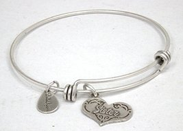 "Authentic Bella Ryann ""Sister"" adjustable wire bangle russian silver. (Shipped s"