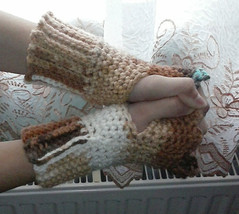 Crochet Multicolor Chunky Fingerless Gloves - $12.00