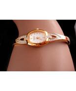Vintage Ladies Caravelle bulova faux Diamond watch - gold plate bracelet... - $65.00