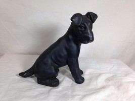 Vintage Cast Iron Fox Terrier Dog Heavy Paperwe... - $42.56