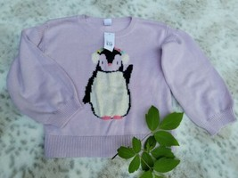 GAP Girls Lavender Long Sleeve Penguin Knit Sweater Top NWT Size 5 years  - $19.79