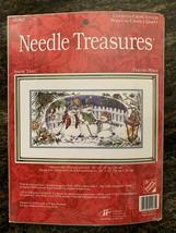 Vintage SEALED Needle Treasures 02965 Snow Trio Snowman Family Cross Sti... - $30.00