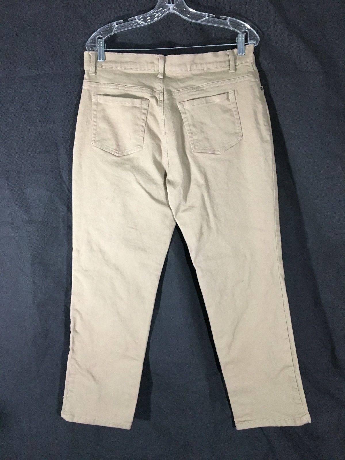 Women's Beige Jeans Gloria Vanderbilt Amanda Missy Size 14 Short