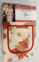 "Printed Kitchen Apron with Pocket, 23"" x 36"", CHRISTMAS TREES by BH - $14.84"