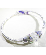 Crystal, Silver, Blue Handmade Bracelet Fashion Accessory  - $2.00