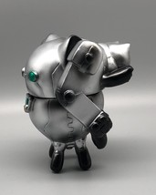 2-Sided Silver Mecha Cat image 3