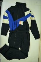 White Stag Vintage Ski Snow Suit Thinsulate Black Blue Men's Size L - $52.00