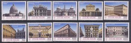 1993 Monuments Set of 10 Vatican Postage Stamps Catalog Number 917-26 MNH