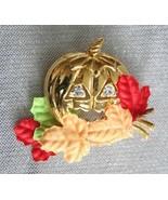 Charming Avon Halloween Jack-o-Lantern Gold-tone Brooch - $14.80