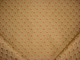 14-3/8Y SCHUMACHER FRENCH PROVINCIAL FLORAL BROCADE UPHOLSTERY FABRIC - $250.27