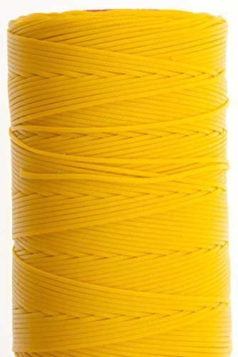 1.2mm Yellow Ritza 25 Tiger Wax Thread For Hand Sewing. 25 - 125m length (75m) - $17.64