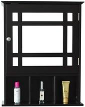 Wall Mount Bathroom Cabinet Mirror Hanging Medicine Cabinet Organizer Brown - $66.31