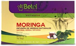 Moringa Tea by Betel Natural - Powerful Antioxidant and Superfood- 30 Count - $10.95