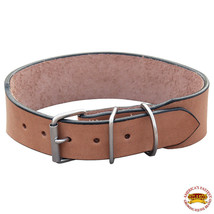 Hilason Heavy Duty Handmade Genuine Leather Dog Collar Tan U-C102 - $16.18