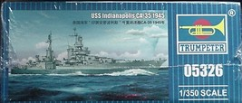 Trumpeter 1/350 USS Heavy Cruiser  Indianapolis CA-35 1945 kit 05326 image 3