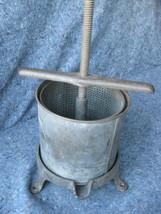 Antique Primitive Cast Iron Wine Apple Fruit Juice Press - $118.79