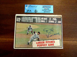 DON LARSEN NY YANKEES 1956 WS PERFECT GAME SIGNED AUTO 1961 TOPPS 402 CA... - $79.19