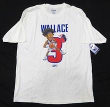 NWT Reebok NBA Ben Wallace #3 Detroit Pistons White Graphic Shirt Adult ... - $39.55